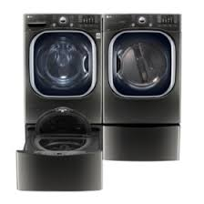 LG - <b>Ultra</b>-<b>Large</b>-<b>Capacity</b> Front-Load Washer, SideKick Pedestal ...
