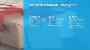 elements of an essay conclusion paragraphs  conclusion paragraph components
