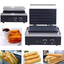 <b>Commercial 110V Electric</b> Nonstick <b>5pcs</b> Spanish Churros Baker ...