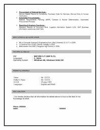 sap mm materials management sample resume years experience sap mm sample resme