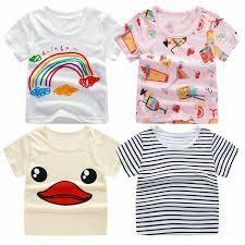 <b>2018</b> Summer Girls & Boys Short Sleeve <b>T Shirts Cartoon Print</b> T ...