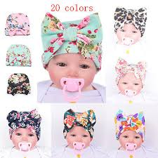 Cute <b>Newborn Baby Infant</b> Girl Toddler Comfy <b>Bowknot</b> Hospital ...