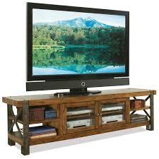 La Rana Furniture Bedroom Riverside Furniture Sierra Rustic 80 In Tv Console W Glass Doors