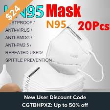 <b>20Pcs</b> Disposable Face Mask <b>KN95</b>/<b>N95</b>/<b>FFP2</b>/<b>KF94</b> Anti PM2.5 95 ...