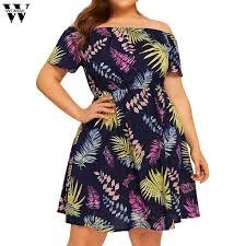 Womail <b>Women's Plus Size dress</b> Ruffles Sleeve <b>Plus Size</b> Solid ...