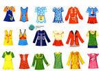 Бумажные куклы раскраски с набором одежды