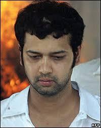 Rahul Mahajan. Pramod Mahajan's son Rahul was in a critical condition - _41725482_rahulafp203