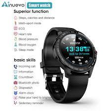 "Ainuevo <b>New Smart Watch</b> Men ECG + <b>PPG</b> 1.3"" HD Full Touch ..."