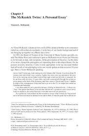 history of medicine essay the mckusick twins a personal essay springer