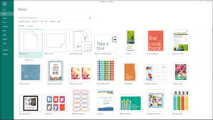 microsoft publisher templates images create a new publication in publisher tutorial