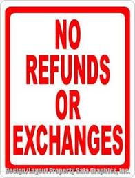 Image result for no returns