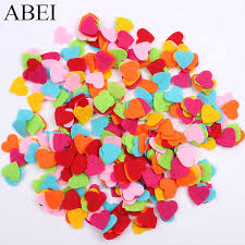 <b>50pcs</b>/lot <b>Heart Patches</b> Felt Fabric Pads Accessory flower felt pads ...