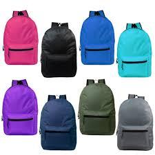 "15"" <b>Wholesale</b> Kids Basic Backpack <b>in</b> 8 Randomly <b>Assorted Colors</b> ..."