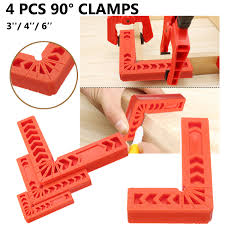 <b>4Pcs</b> 3/4/6 inch <b>90 Degrees Right</b> Angle Clamps Corner Clamp ...