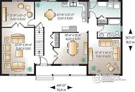 House plan W detail from DrummondHousePlans com    st level Economical  amp  simple bedroom traditional  storey house plan  living