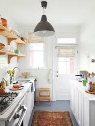 Contemporary Galley Kitchen Cabinets Storages Amazing White Stylish Contemporary Galley