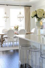 size dining room contemporary counter: kitchen dining white cabinetry amp dining chairs antique wood dining table contemporary lighting white marble countertops