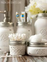 jar crafts home easy diy: bathroom storage ideas with mason jars