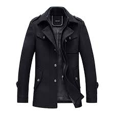 YOUTHUP <b>Mens Coats</b> Casual <b>Winter Wool Jackets</b> Regular Fit ...