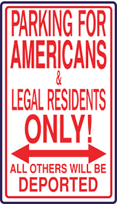 Image result for welcome to america sign
