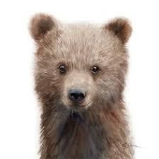 <b>Watercolor Bear</b>, <b>Bear</b> art print, PRINTABLE, Nursery decor, Animal ...