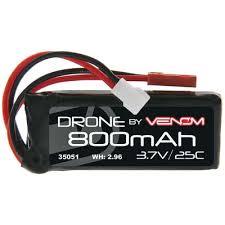 Venom <b>LiPo</b> 1S <b>3.7V 800mAh 25C</b> - Micro Losi Molex/JST ...