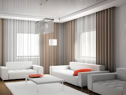 modern living room decoration with modern sheer and brown light weight drapes combo ideas chic living room curtain