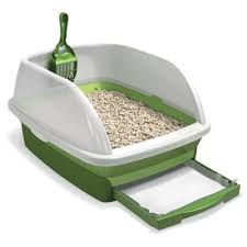 uses disposable pads cat litter box