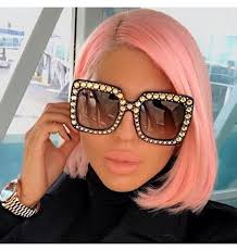 KeiKeSweet Luxury Brand Designer Italian Big <b>Crystal</b> Sun <b>Glasses</b> ...