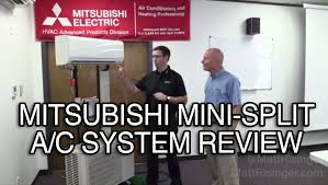 Mitsubishi Ductless Mitsubishi Mini Split A C System Review Youtube