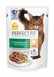 <b>Perfect Fit</b> - <b>Паучи</b> для стерилизованных кошек (с курицей в соусе ...