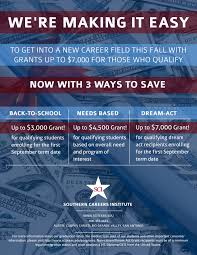 sci grants now offering up to 7 000 career training programs sci grant flyer