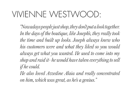 BIRTHDAY QUOTES: VIVIENNE WESTWOOD | Joseph via Relatably.com