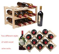 2019 Wooden Red Wine Rack <b>10/12 Bottle Holder Mount</b> Bar ...