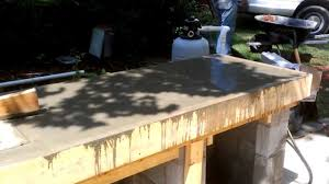 Countertop For Outdoor Kitchen Outdoor Kitchen Construction Concrete Counter Form Youtube