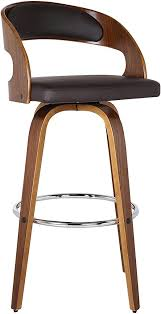 """Armen Living Shelly 26"""" Counter Height <b>Barstool</b> in <b>Brown Faux</b> ..."""