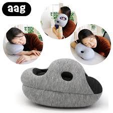 aag inflatable u shape neck pillow portable folding 5 piece set travel suit slippers eye mask earplugs storage bag