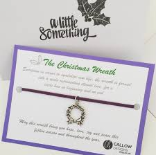 christmas wreath homemade suede wrap charm bracelet quote meaning christmas wreath homemade suede wrap charm bracelet quote meaning purple silver festive little gift advent greetings card