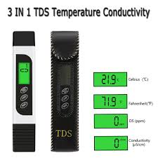 3 In 1 <b>Digital LCD PH Meter</b> TDS Water Purity PPM Filter Hydroponic ...