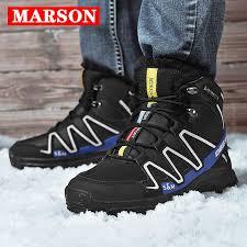 <b>MARSON Men's</b> Boots <b>Winter</b> Plush <b>Snow</b> Boots High Heels ...