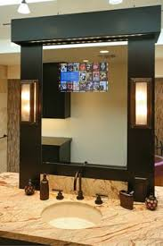 design bathroom tv mirror glass