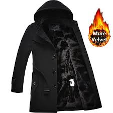 <b>2019</b> Winter Trench Coat <b>Men</b> Fashion Long Overcoat <b>men Hot Sale</b> ...