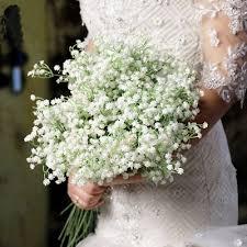 <b>20pcs</b> Artificial Fake Silk Gypsophila Baby's Breath <b>Flower</b> Wedding ...