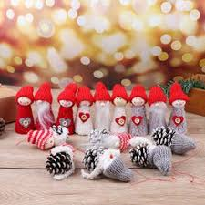 Christmas Tree Pompoms Doll Pendant Skiing Snowman ... - Vova
