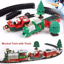 <b>Christmas</b> Children Track Small <b>Train Toy Electric Christmas Train</b> ...