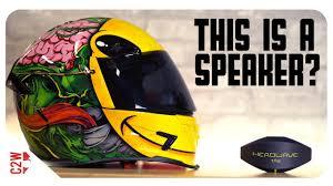A <b>WIRELESS motorcycle HELMET</b> SPEAKER?! [First Fit - Headwave ...