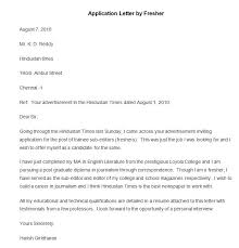 Best Free Application Letter Templates  amp  Samples   Free     Sample Application Letter by Fresher