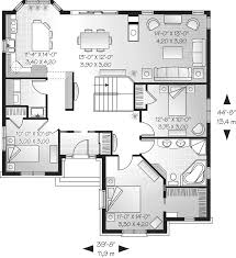 Craigranch One Story Home Plan D    House Plans and MoreTraditional House Plan First Floor   D    House Plans and More