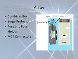 project helios group 10 michael gannon michael peffers ppt 13 array combiner box surge protector fuse and fuse holder mc4 connectors