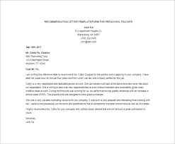 Letters of Recommendation – 28+ Free Word, Excel, PDF Format ... Preschool Teacher Recommendation Letter Template
